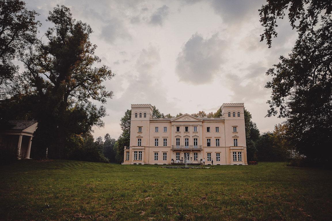 Sonnenuntergang Schloss Steinhöfel