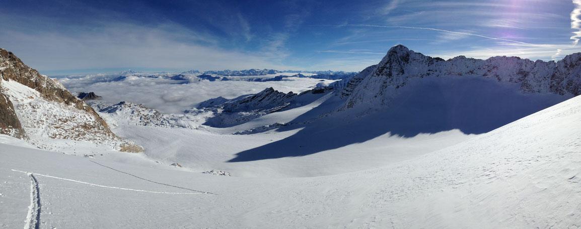 Glacier de St Sorlin, ma trace dans ce paradis