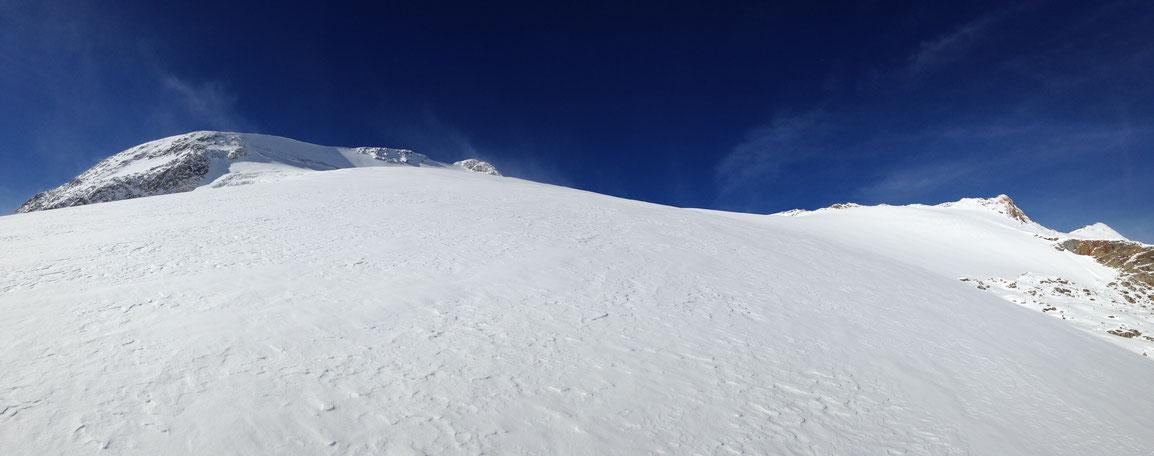 Glacier de St Sorlin, le sommet est en vu