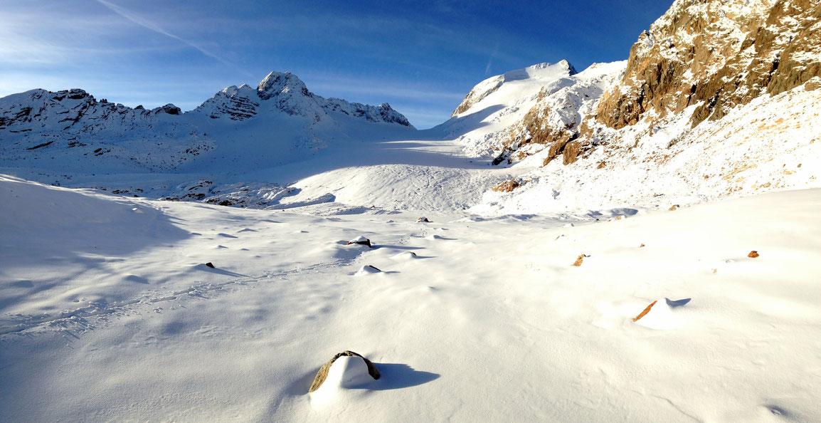 Toujours un spectacle grandiose quand on arrive au pied de ce glacier