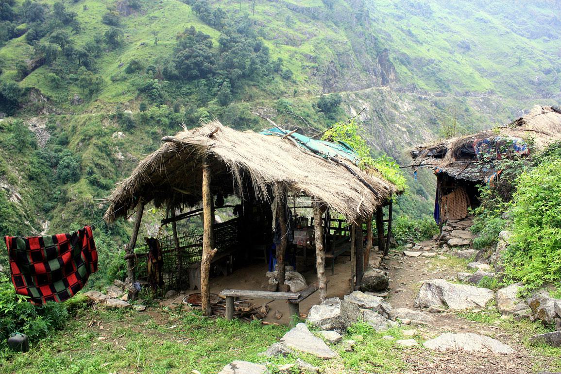 Une habitation du village de Sattale (1680 m)