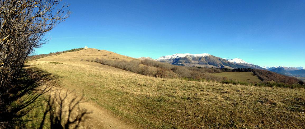 Le sommet du Tabor résiste avec son enneigement sur le haut