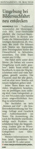 Wilhelmshavener Zeitung 26.05.2018
