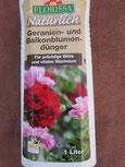 Geranien; Balkonblumendünger von der Firma Florissa. Foto: Bio Gärtnerei Kirnstötter