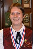 Elly van Haperen districtkampioen 6e klas libre