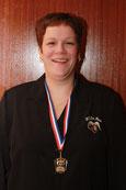 Cynthia van Peer, districtkampioen bandstoten 5e klas