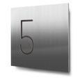 Nummern beginnend mit 5... konturgeschnitten, in Edelstahl