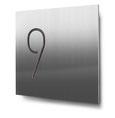 Nummern beginnend mit 9... konturgeschnitten, in Edelstahl