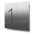 Nummern beginnend mit 1... konturgeschnitten, in Edelstahl