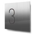Nummern beginnend mit 3... konturgeschnitten, in Edelstahl