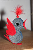 Petit oiseau Tête-De-Plumeau