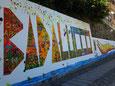 1 settembre  2017, realizzazione di un nuovo murale a Badalucco (imperia)
