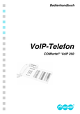Titelbild Kurzbedienanleitung: Auerswald COMfortel 250 VoIP