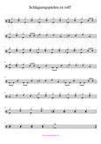 Schlagzeugnoten sehr leicht Solo