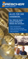 Titelseite Folder Drescher Eisenwaren