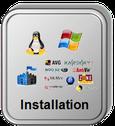 installation informatique, anti-virus, logiciels, internet, box...
