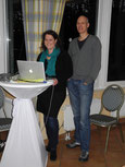 Aktiv für unsere neue Internetpräsenz: Silke Nießing und Pitt Voigt