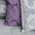 Textilien, Wohnen, Dekoration, shabby chic, Landhausdekoration, Kissen, Tischläufer, Decken