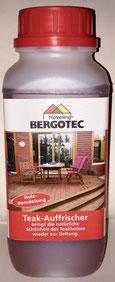 Bergotec Teak-Auffrischer - tiefenwirksam - für natürliche Schönheit und Farbe des Teakholzes