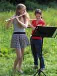 Flöten Unterricht mit Querflöte