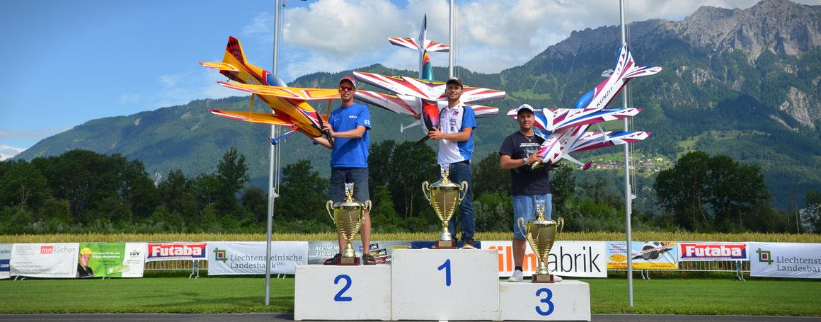 Glückwunsch an Lassi (2. Platz), Stefan (1. Platz) und Robin (3. Platz)