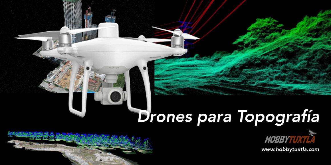 Drones para topografia - Levantamiento topografico, mapeo, ortomosaicos, nube de puntos, mapas 3D