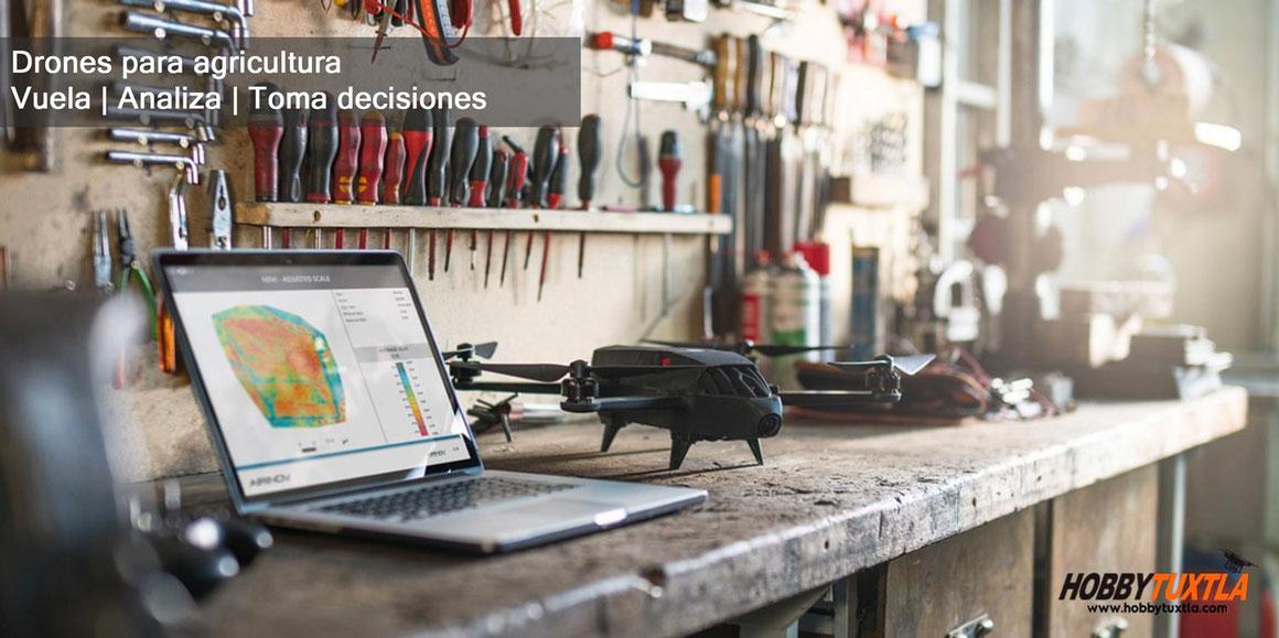 Parrot Bluegrass Fields son drones para una agricultura inteligente que ofrecen una solución completa de análisis agrícola