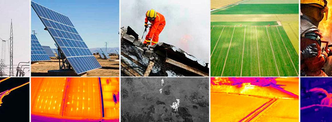 Las cámaras térmicas en drones son la gran herramienta para inspección de paneles solares, de cultivos y labores de búsqueda y rescate SAE