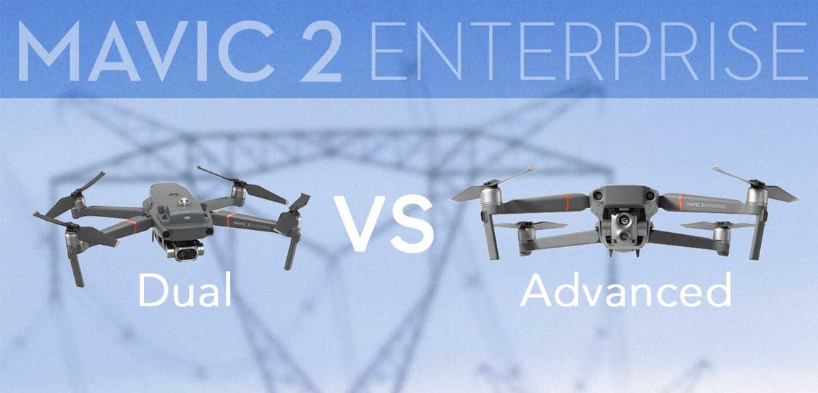 Mavic 2 Enterprise Dual vs Mavic 2 Enterprise Advanced comparativa diferencias