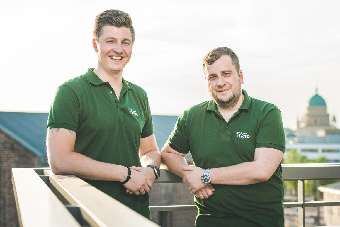 Ein starkes Team: Christopher Bretall (links) und sein Mitarbeiter Enrico Krause