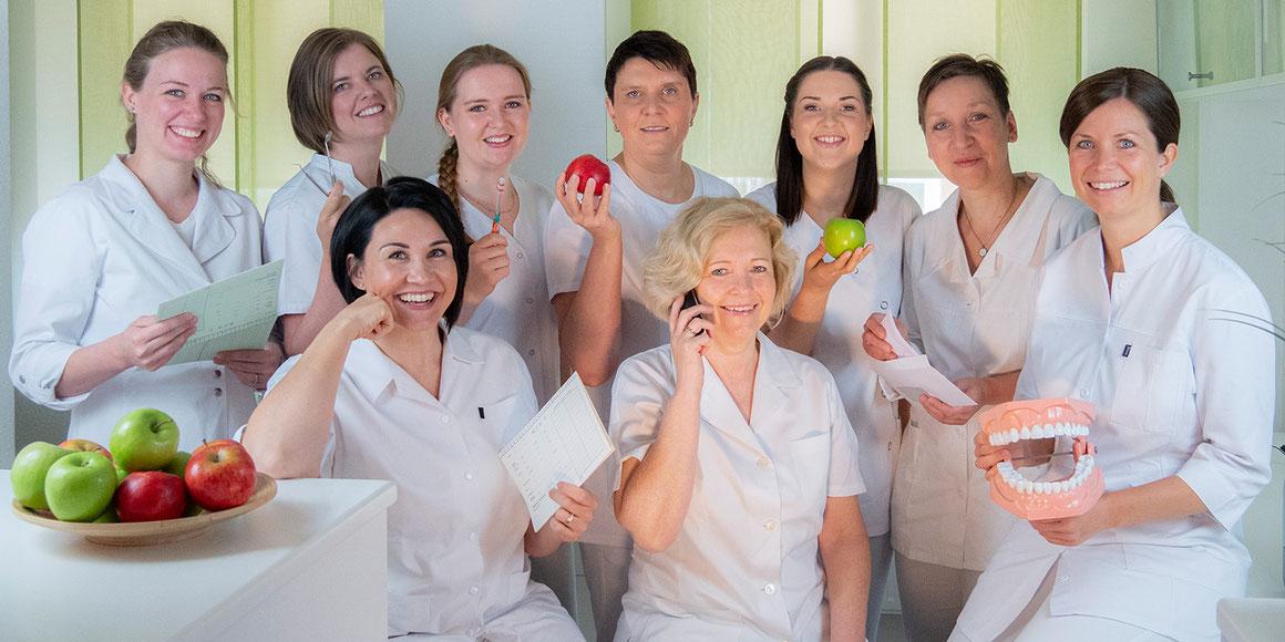 Team der Zahnarztpraxis Dr. Juliane Schäffer, Hiddenhausen, Eilshausen, Herford