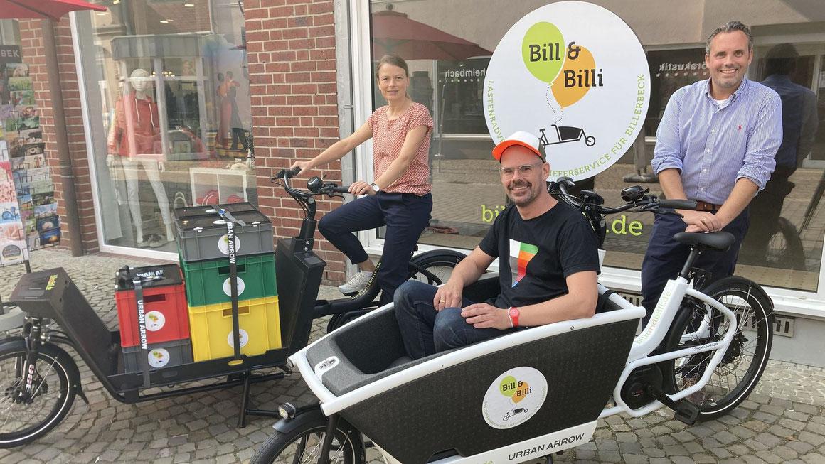 Dank Bill und Billi sollen durch Billerbeck bald weniger Autos, dafür aber mehr Lastenfahrräder rollen. Foto Stadt Billerbeck