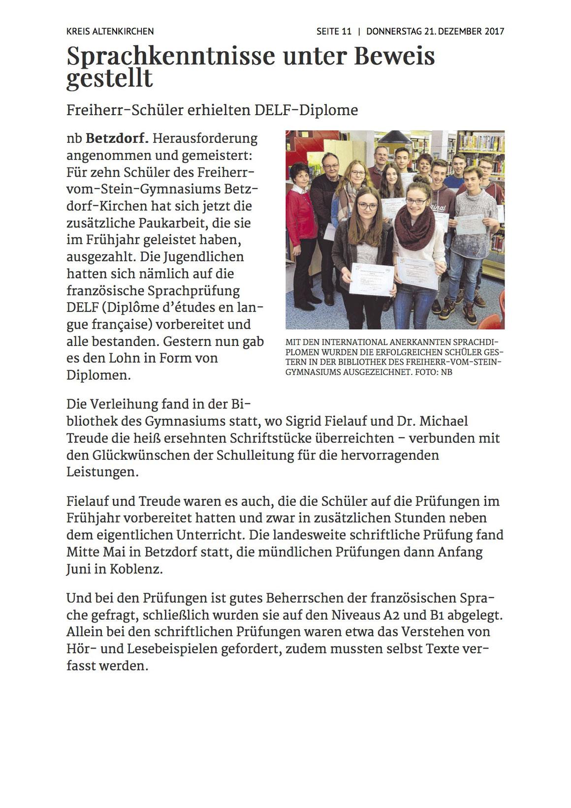 Siegener Zeitung 21.12.2017