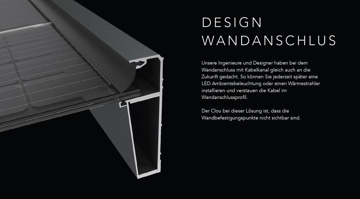 Terrassendach Wandanschluss