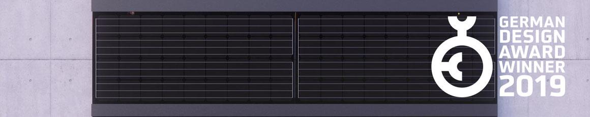 Solarfassade mit dem PS-165M Design Award 2019