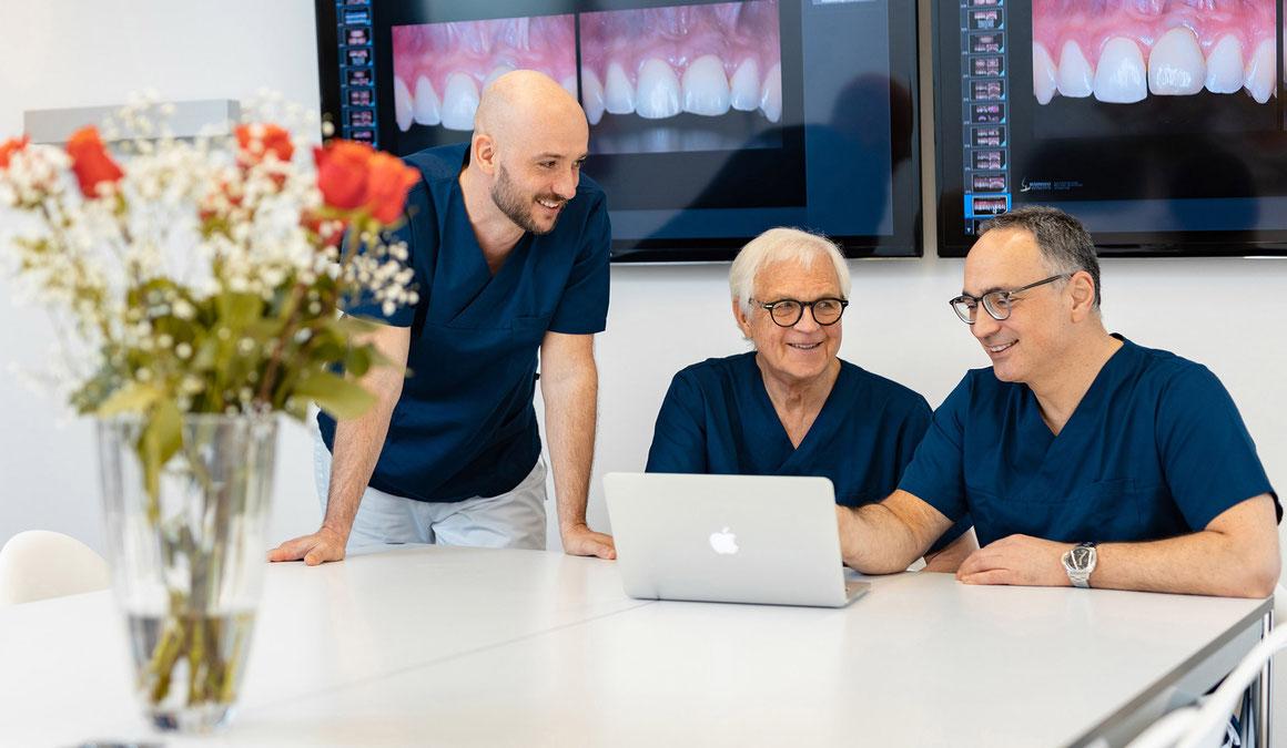 Dr. med. dent. Roman Beniashvili, Prof. Dr. Dr. Konrad Wangerin und Dr. med. dent. Bastian Kern