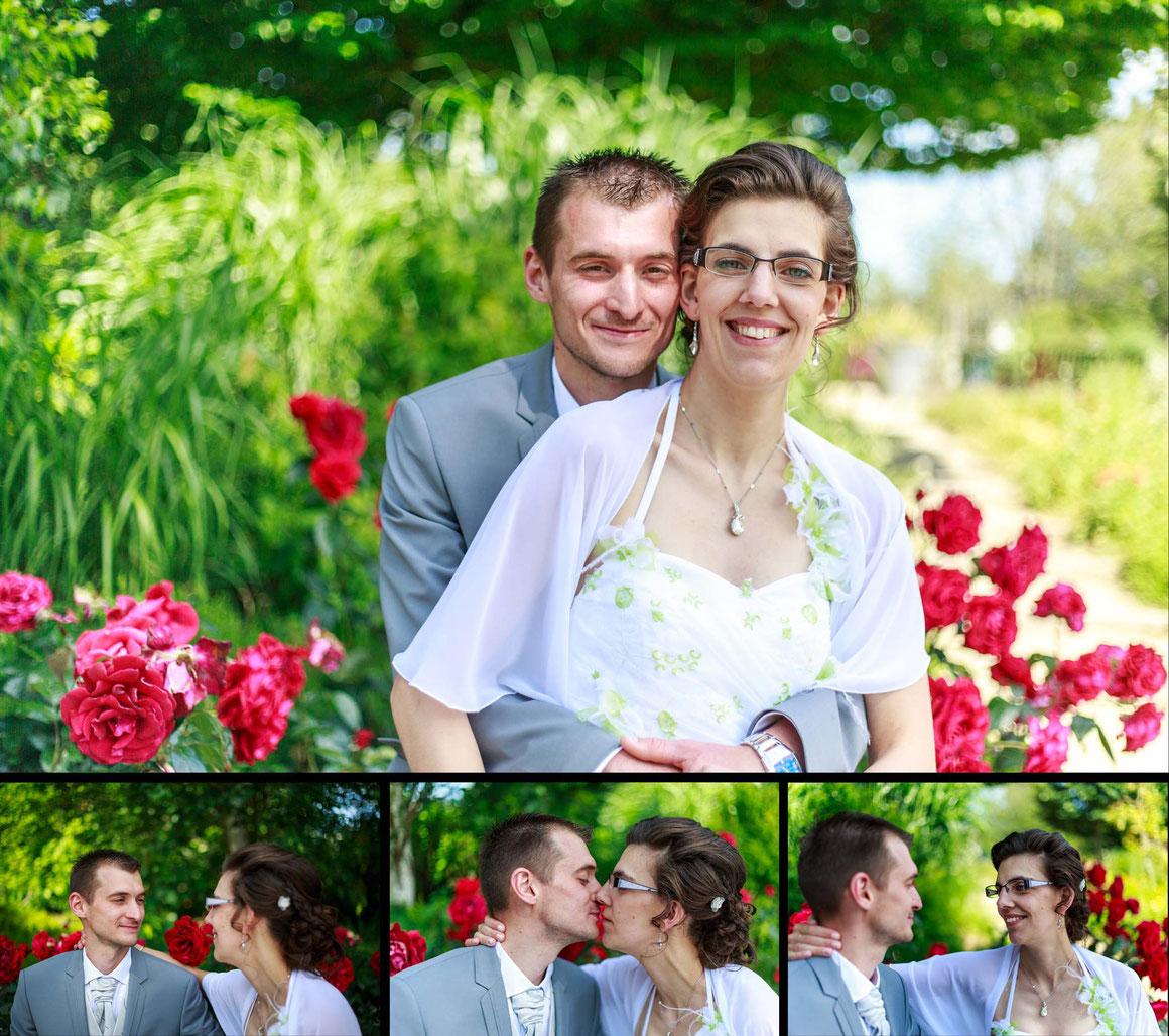 Photographie mariage jardin des plantes Saint Nazaire