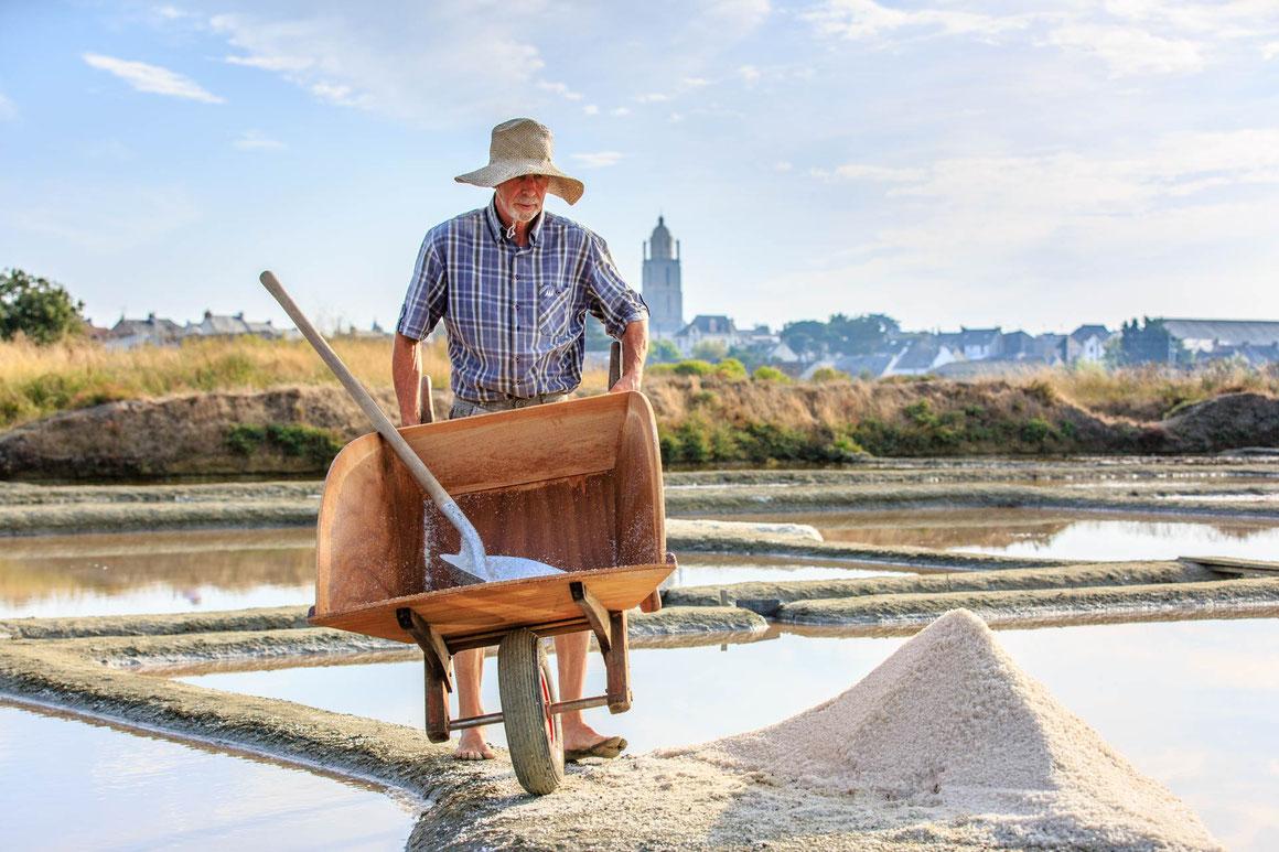 Reportage photo pour les entreprises, le métier de paludier à Guérande (loire-Atlantique) Juin 2018
