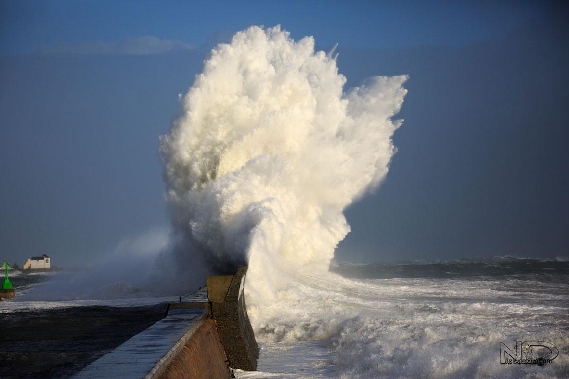 Tempête en bretagne Lesconil - Finistère
