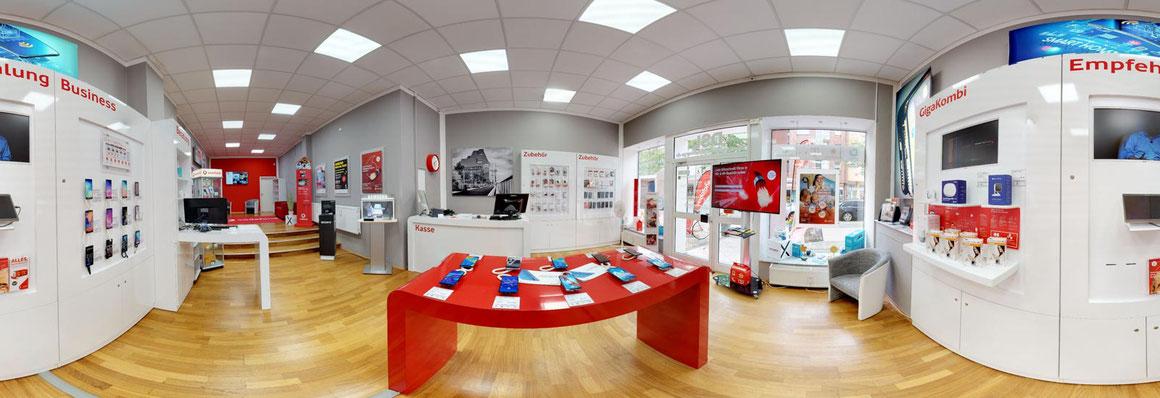 360 Grad Foto Ladenlokal Vodafone Wittenberge