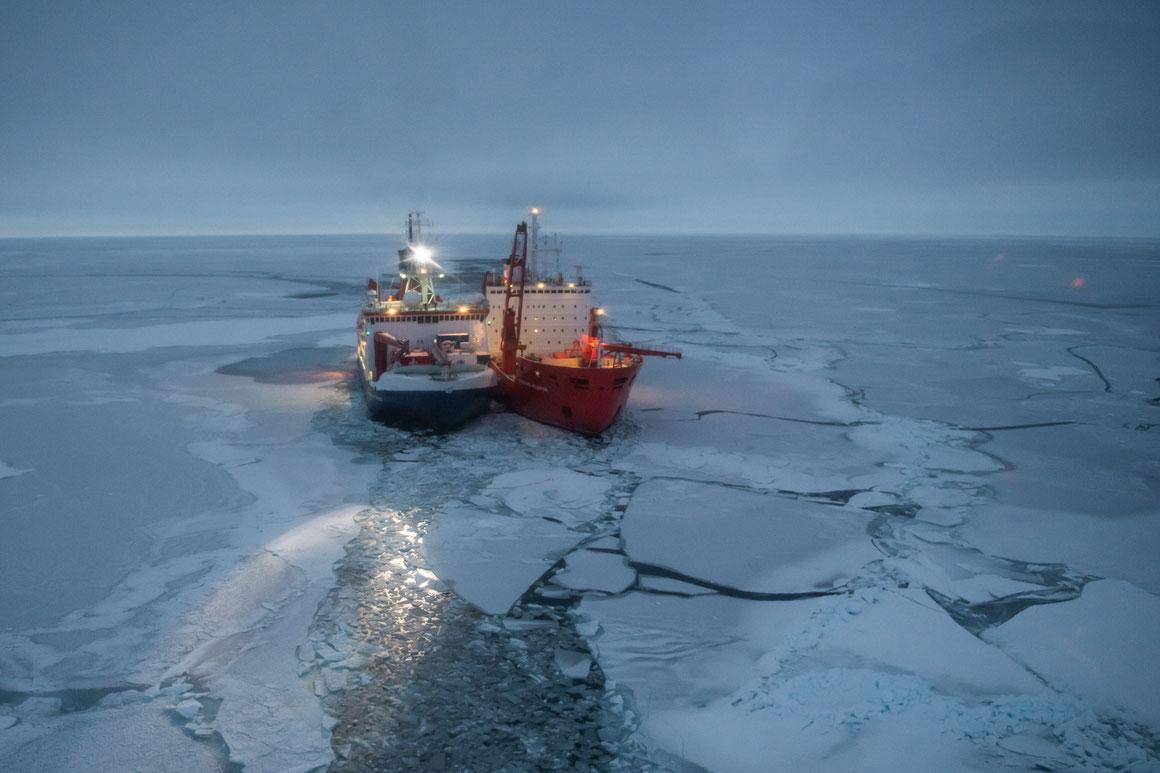 RV Polarstern und Akademik Fedorov |© Esther Horvath