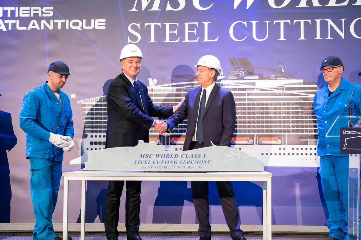 MSC Europa Stahlschnitt