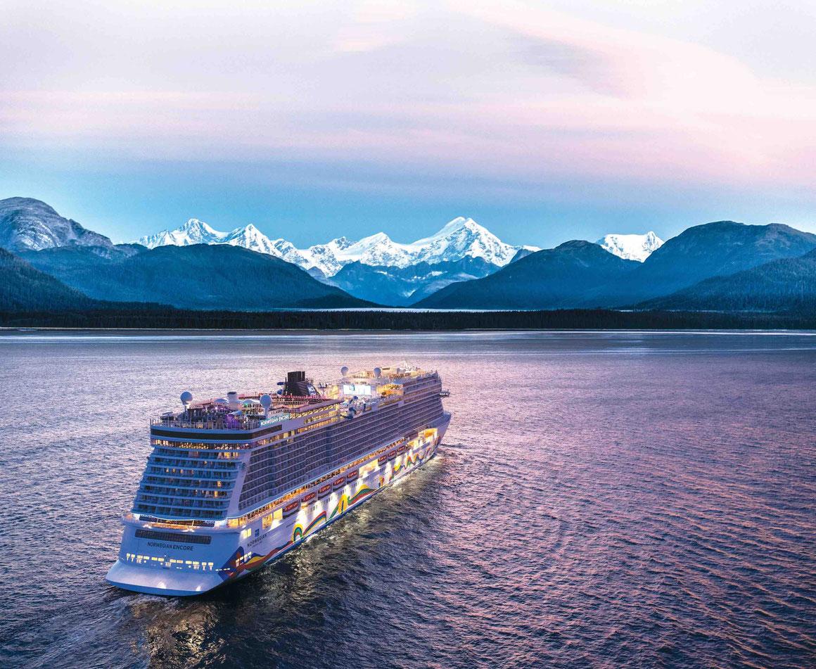 Norwegian Encore in Alaska