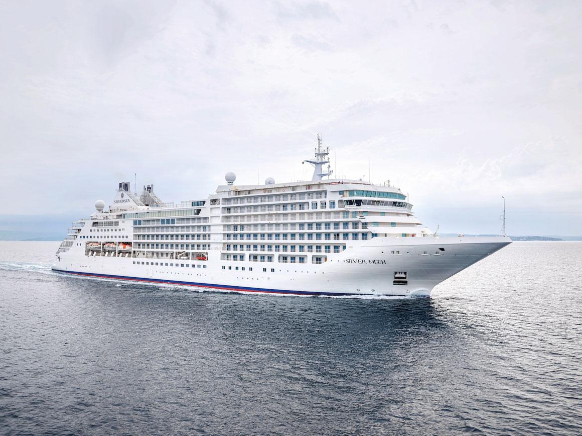 Die ,,Silver Moon'' wird als erstes Silversea-Schiff starten |©Silversea Cruises