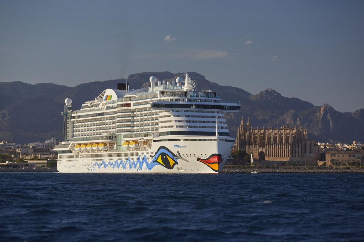 AIDAperla in Palma de Mallorca
