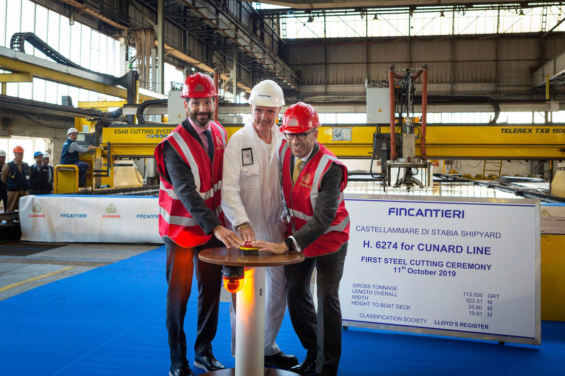Cunard Line Neubau 2022 Stahlschnitt