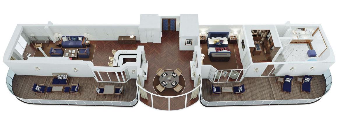Oceania Cruises Vista Owners Suite