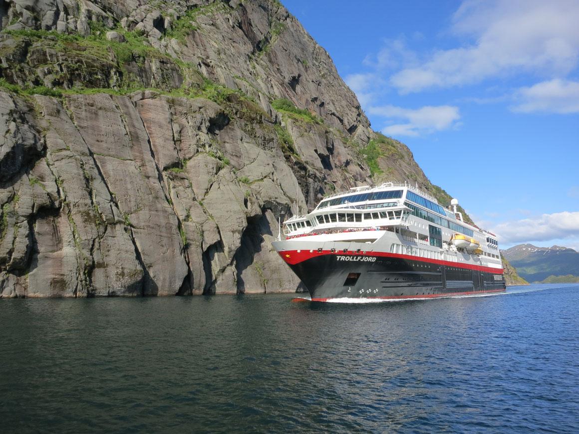 MS ,,Trollfjord'' wird zum Expeditionsschiff MS ,,Maud'' umgebaut |©Hurtigruten / Solfrid Bøe