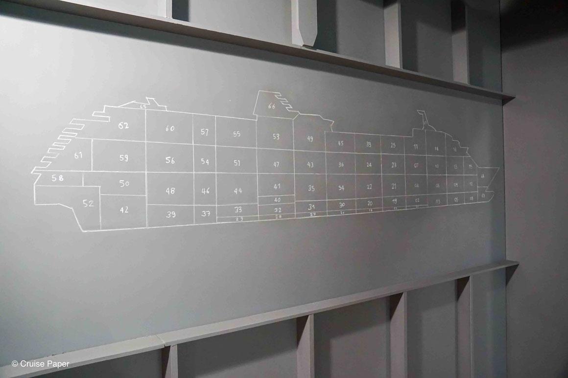 Blockbauplan Kreuzfahrtschiff