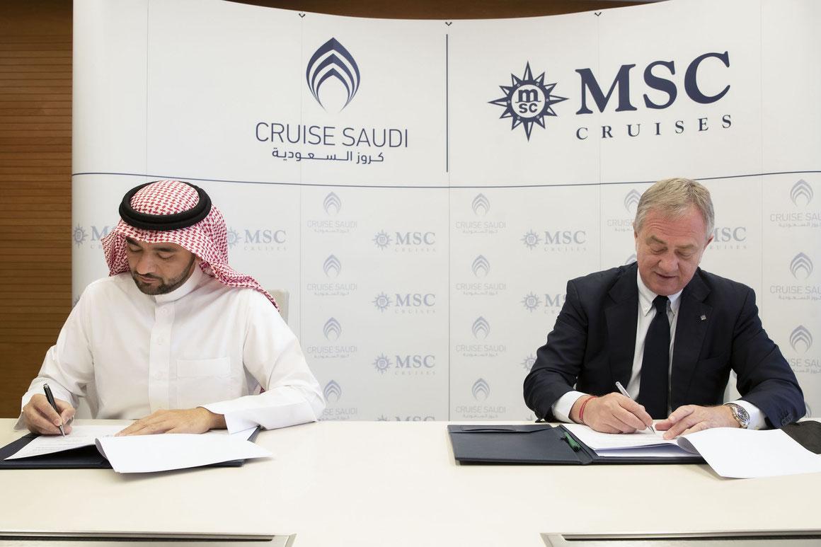Cruise Saudi und MSC Cruises